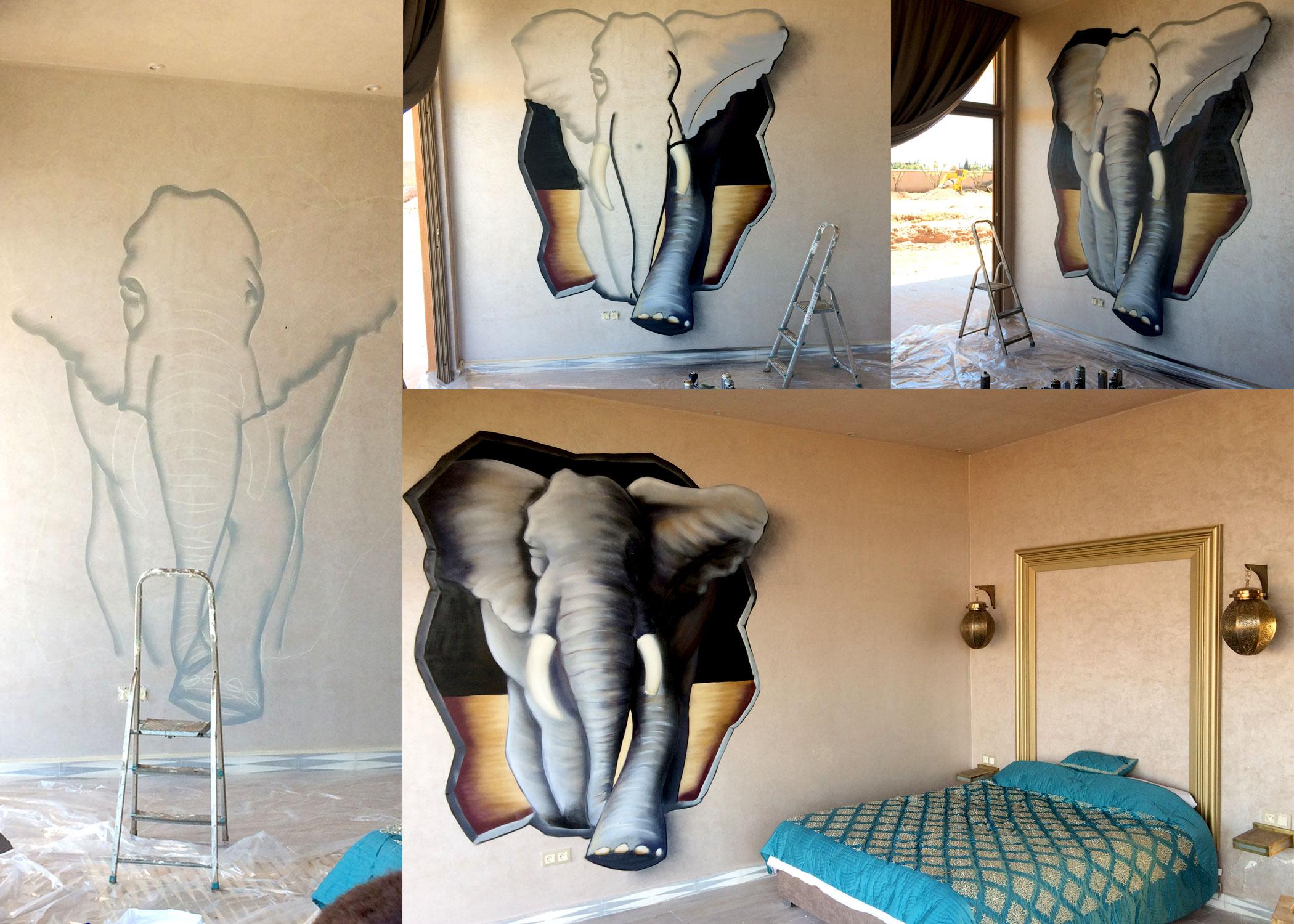 elephant-maroc-geograffeur-chambre-riad