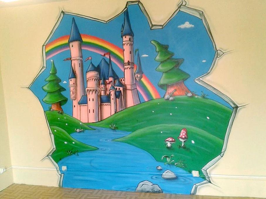 geograffeur-chambre-chateau-princesse-deco-graffiti