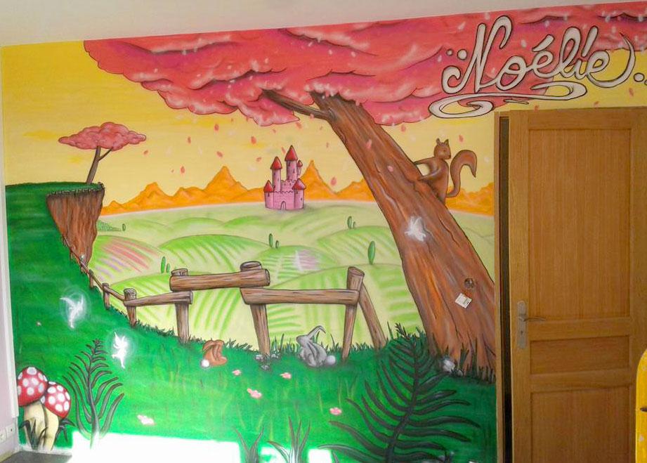 geograffeur-chambre-graffiti-enfant-decoration-nature-paysage-ecureuil-lapin-animaux