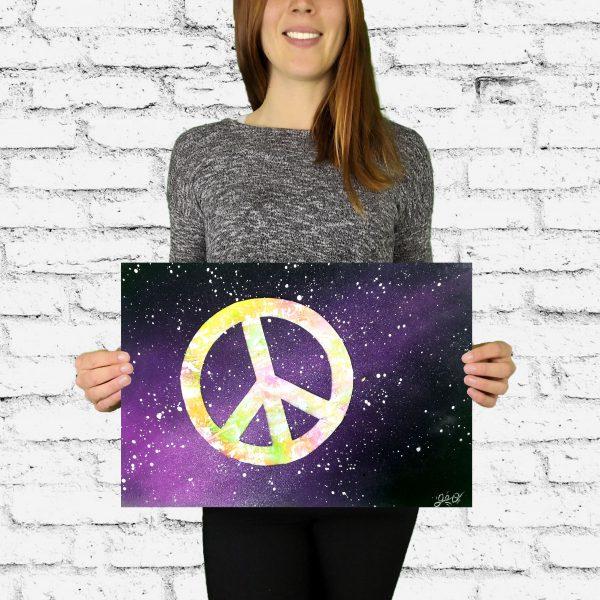 peace and love geograffeur art